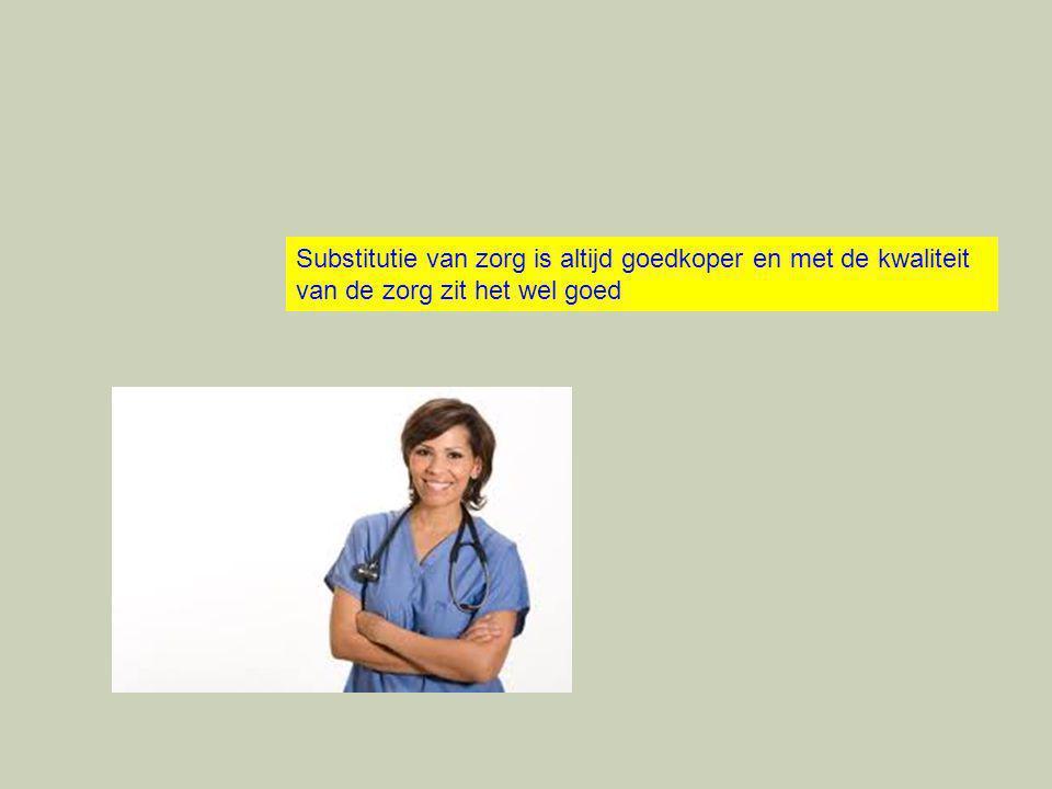 Substitutie van zorg is altijd goedkoper en met de kwaliteit van de zorg zit het wel goed