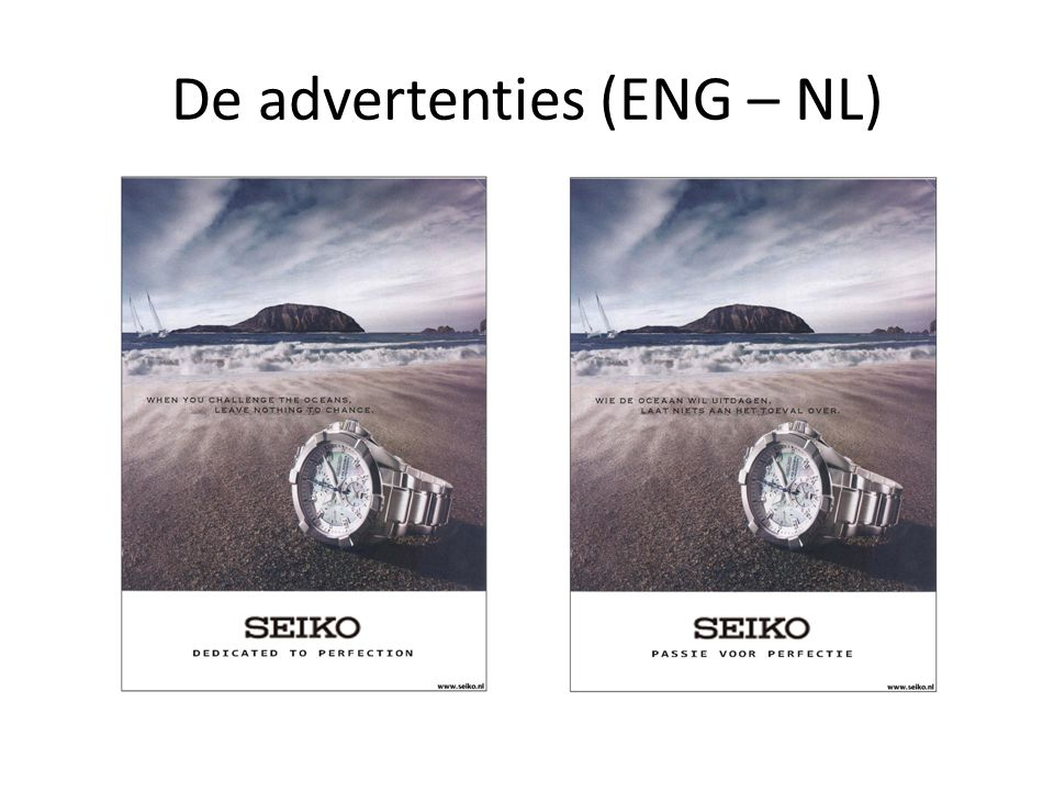 De advertenties (ENG – NL)