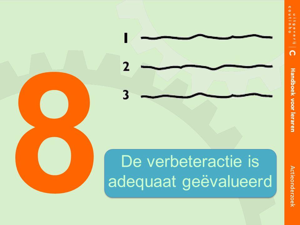 De verbeteractie is adequaat geëvalueerd 8 Handboek voor leraren Actieonderzoek