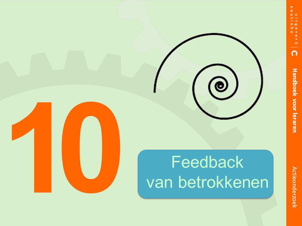 Feedback van betrokkenen 1 0 Handboek voor leraren Actieonderzoek