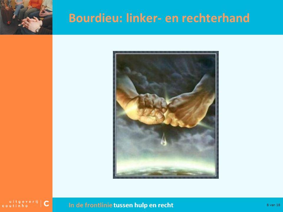 In de frontlinie tussen hulp en recht 8 van 18 Bourdieu: linker- en rechterhand