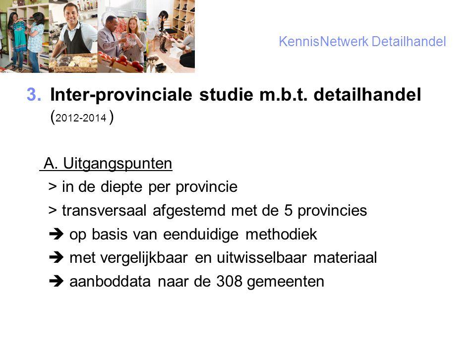 4 KennisNetwerk Detailhandel  Inter-provinciale studie m.b.t.