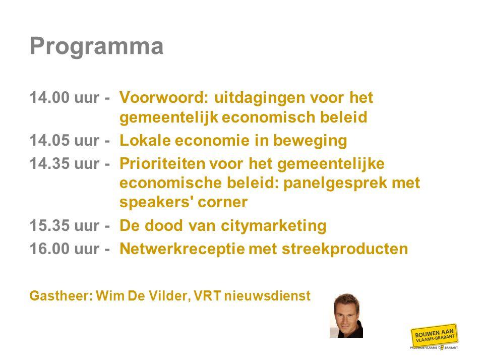Voorwoord uitdagingen voor het gemeentelijk economisch beleid door Gudrun Denhaen, diensthoofd economie, provincie Vlaams-Brabant