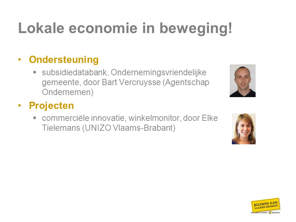 Lokale economie in beweging.