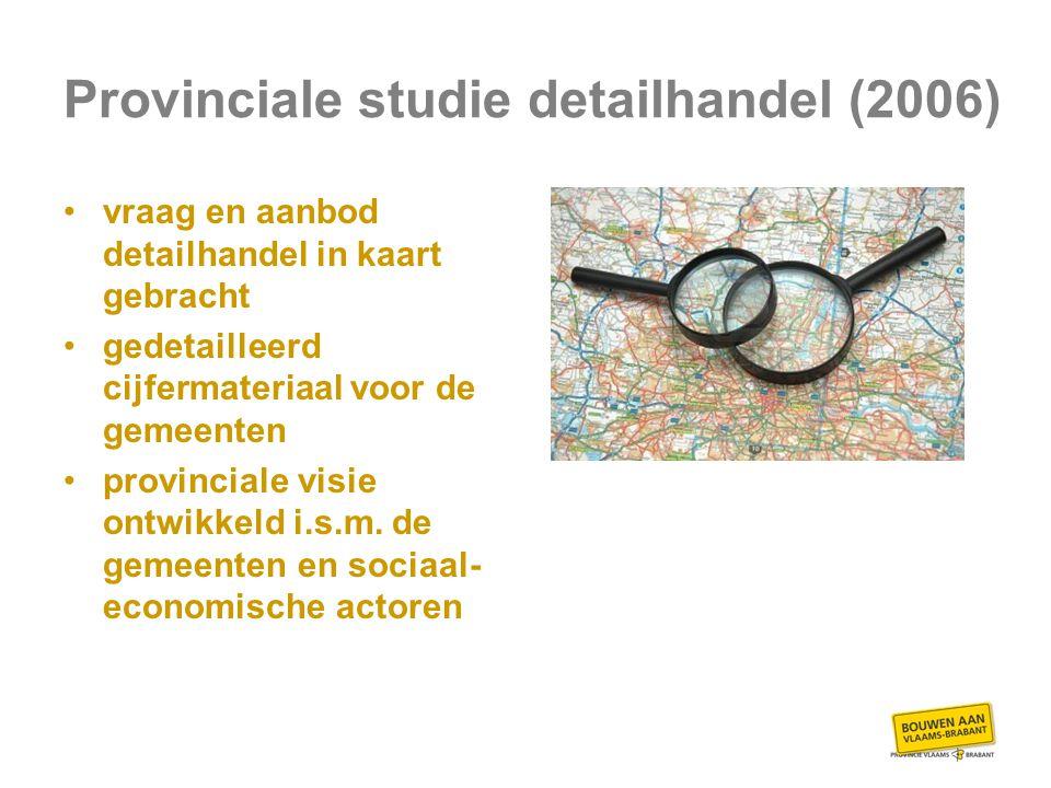 Provinciale studie detailhandel (2006) vraag en aanbod detailhandel in kaart gebracht gedetailleerd cijfermateriaal voor de gemeenten provinciale visie ontwikkeld i.s.m.
