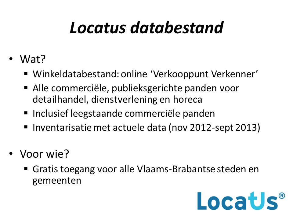 Locatus databestand Wat.