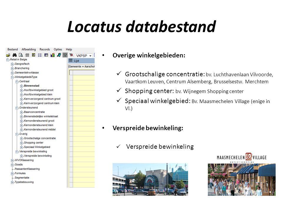 Locatus databestand Overige winkelgebieden: Grootschalige concentratie: bv.