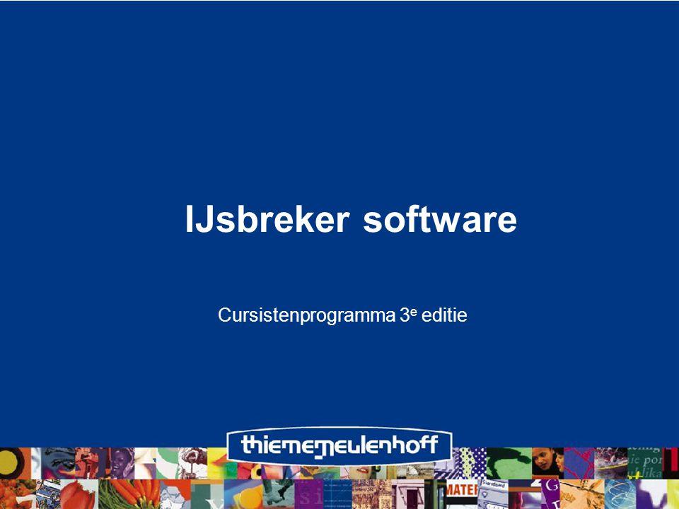 IJsbreker software Cursistenprogramma 3 e editie