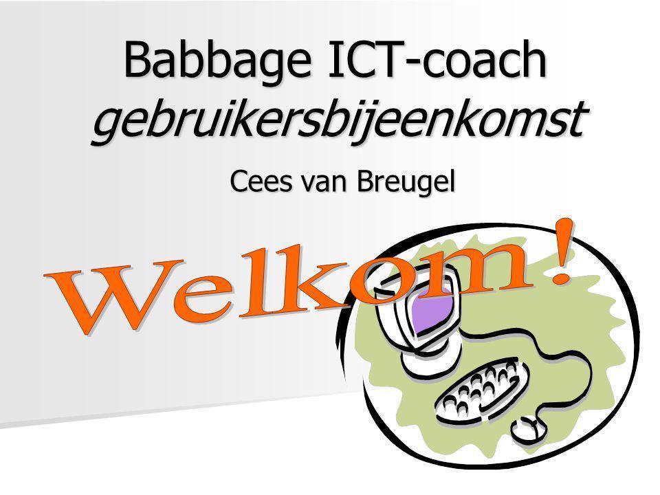 Babbage ICT-coach gebruikersbijeenkomst Cees van Breugel