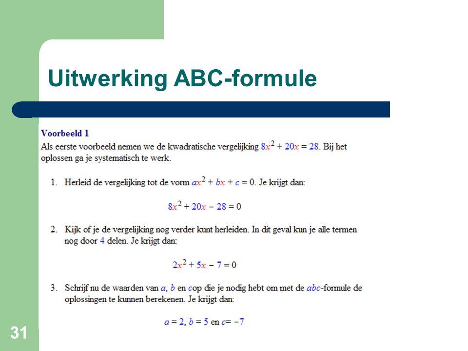 31 Uitwerking ABC-formule