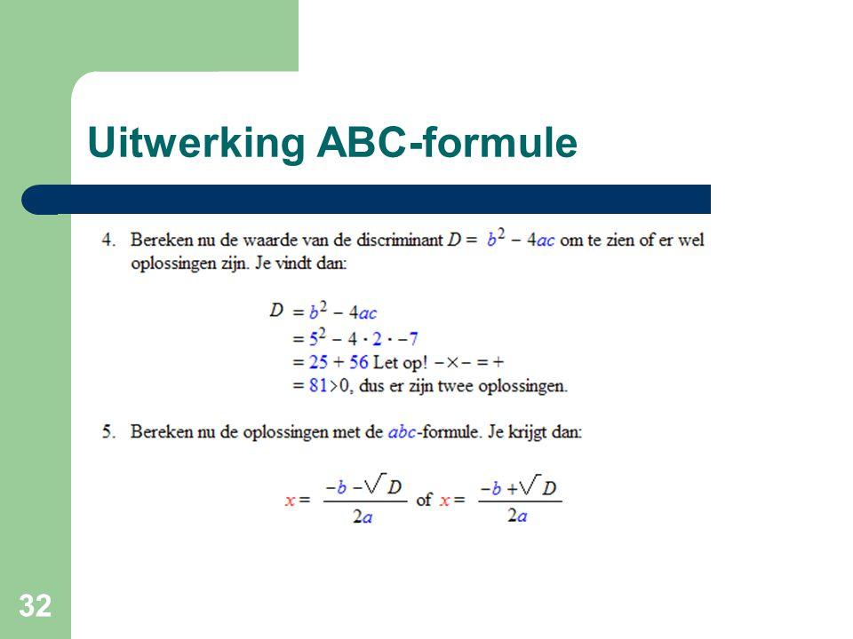 32 Uitwerking ABC-formule