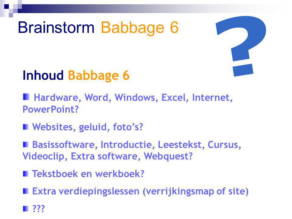Brainstorm Babbage 6 Software Babbage 6 Gesloten software.