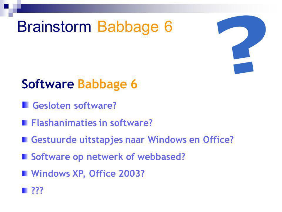 Brainstorm Babbage 6 Toetsing Babbage 6 Lesjes.Basistoets.