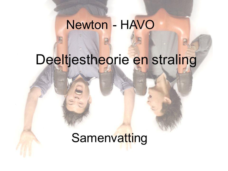 Newton - HAVO Deeltjestheorie en straling Samenvatting