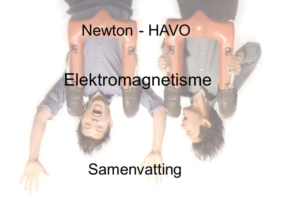 Newton - HAVO Samenvatting Elektromagnetisme