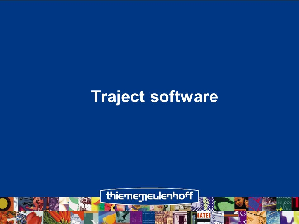 Traject software
