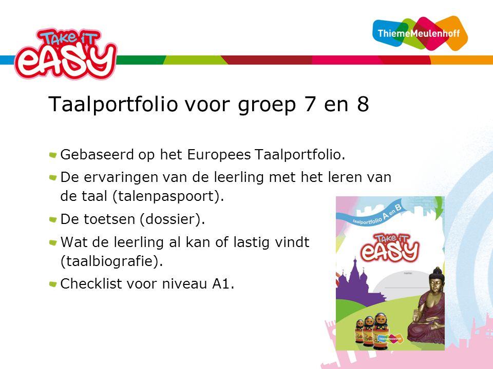 Taalportfolio voor groep 7 en 8 Gebaseerd op het Europees Taalportfolio.