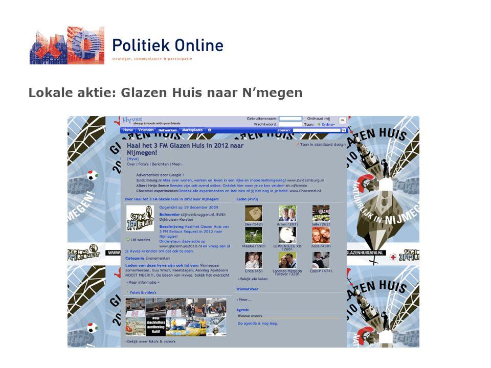 Lokale aktie: Glazen Huis naar N'megen