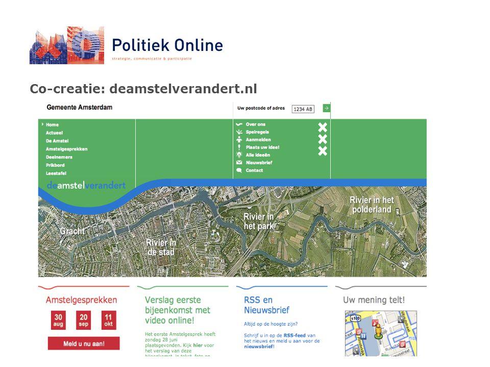 Co-creatie: deamstelverandert.nl