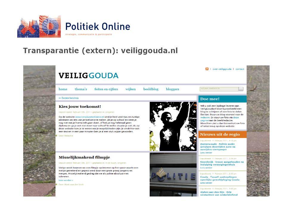 Transparantie (extern): veiliggouda.nl
