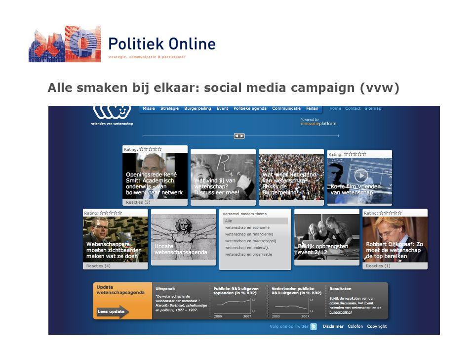 Alle smaken bij elkaar: social media campaign (vvw)