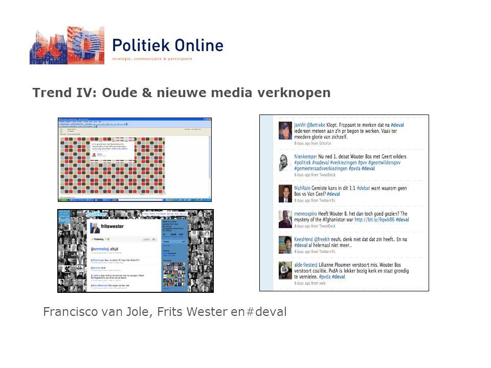 Trend IV: Oude & nieuwe media verknopen Francisco van Jole, Frits Wester en#deval