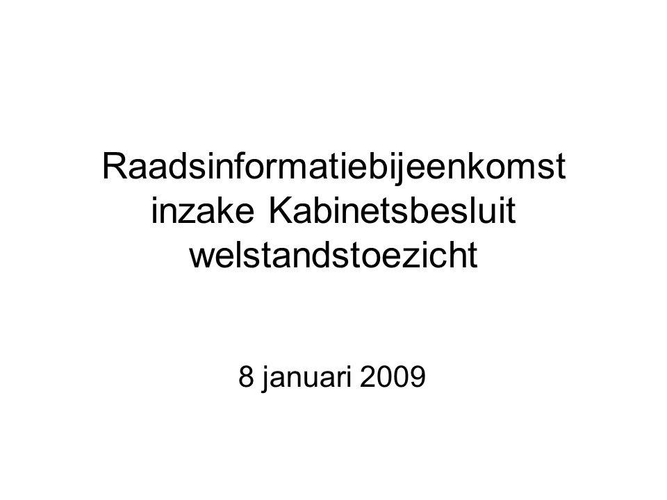 Raadsinformatiebijeenkomst inzake Kabinetsbesluit welstandstoezicht 8 januari 2009