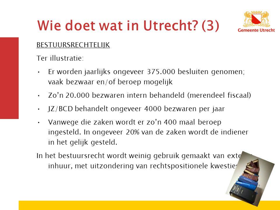 Wie doet wat in Utrecht.