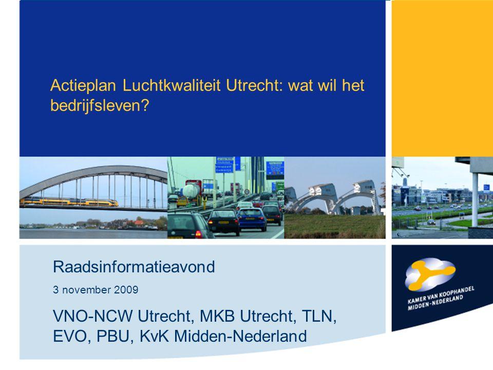 Actieplan Luchtkwaliteit Utrecht: wat wil het bedrijfsleven.