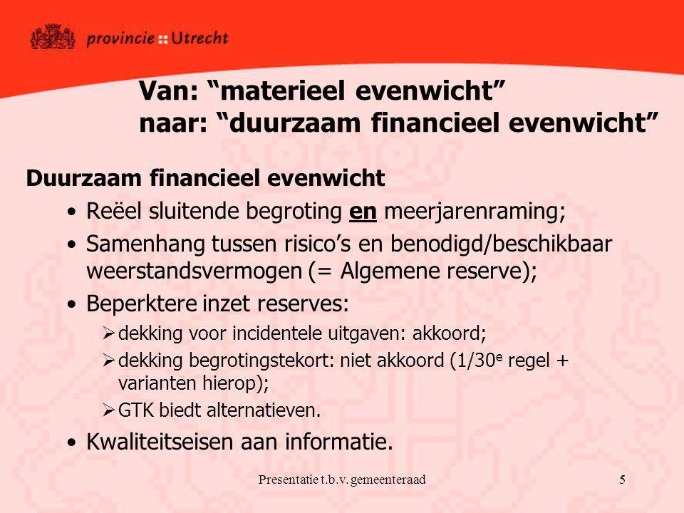 Presentatie t.b.v.
