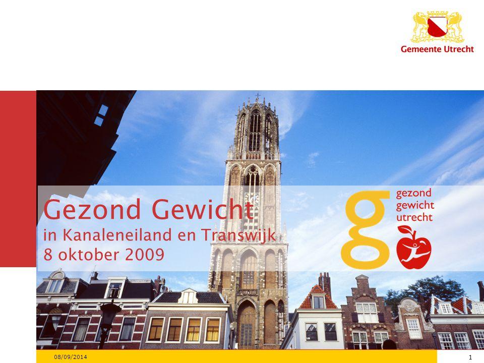 1 08/09/2014 1 Gezond Gewicht in Kanaleneiland en Transwijk 8 oktober 2009