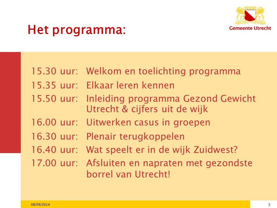 14 08/09/2014 Gegevens naar subwijk in Zuidwest Subwijk Aantal inwoners % 0-17 jaar % laag opgeleid % autocht.