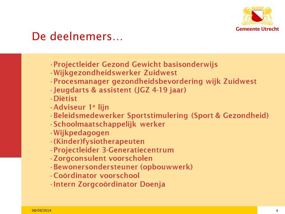 5 08/09/2014 Ontwikkeling van overgewicht in Nederland 1981-2003 Ministerie van Volksgezondheid, Welzijn en Sport.