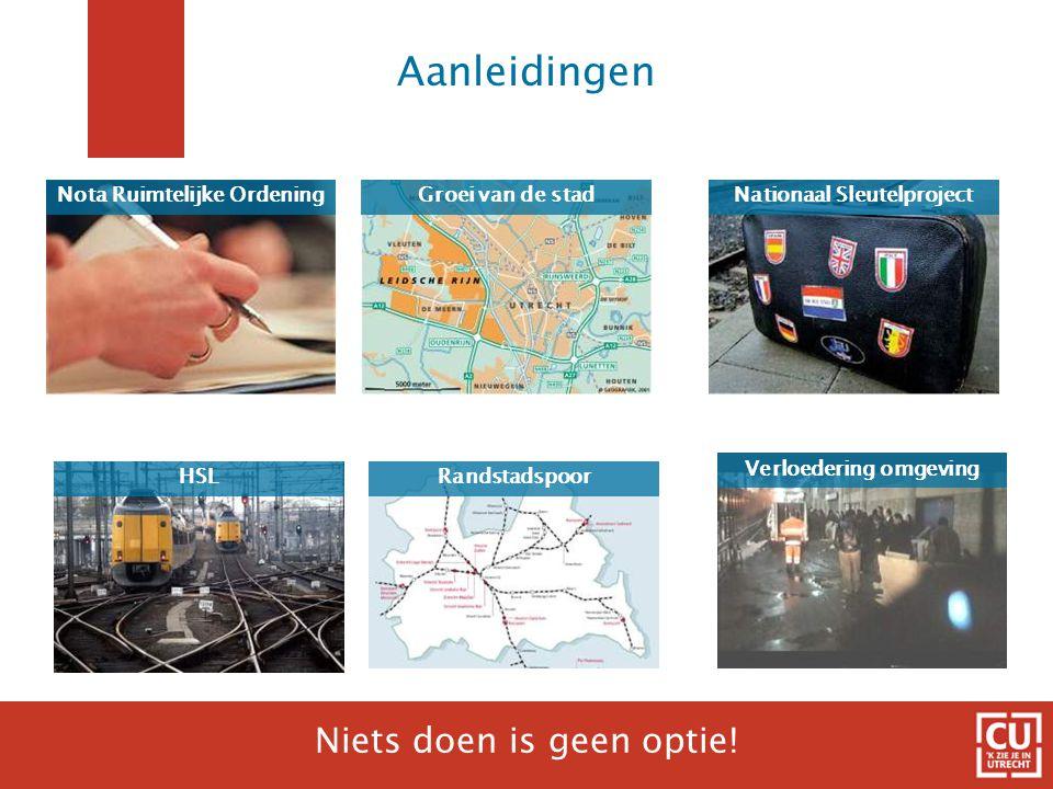 Aanleidingen HSL Groei van de stad Verloedering omgeving Niets doen is geen optie.