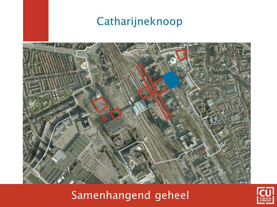 Visie op Catharijneknoop Van +1 naar maaiveld Focus op looproutes en loopstromen Noord  Zuid, knooppunten verbijzonderen Anonieme plinten activeren