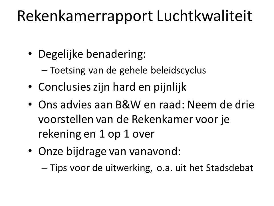 Indicator: Utrechts Roet-Reductie-Plan We weten hoeveel ton roet/fijnstof het autoverkeer binnen de stadsgrenzen per jaar vrij komt.