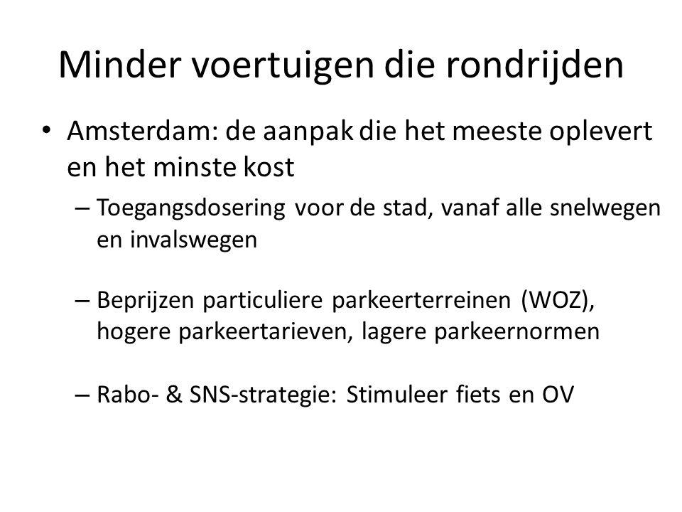 Concrete doelen richting Rijk 'Als het Rijk de lucht boven en naast snelwegen niet snel veel schoner maakt dan lossen wij onze problemen in de stad op door afritbeperking' – Net zoals Rijkswaterstaat op sommige toeritten.