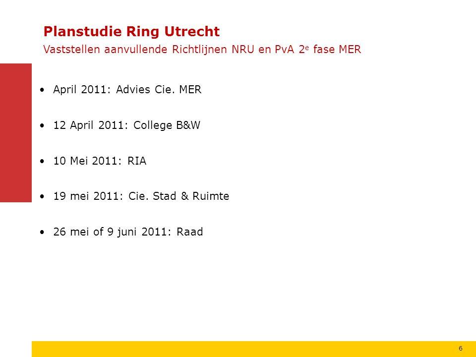 Oudenrijn A12 A27 Lunetten Rijnsweerd A28 Utrecht Noord Veemarkt A27 7 Planstudie Ring Utrecht Plangebied onderdeel A27/12