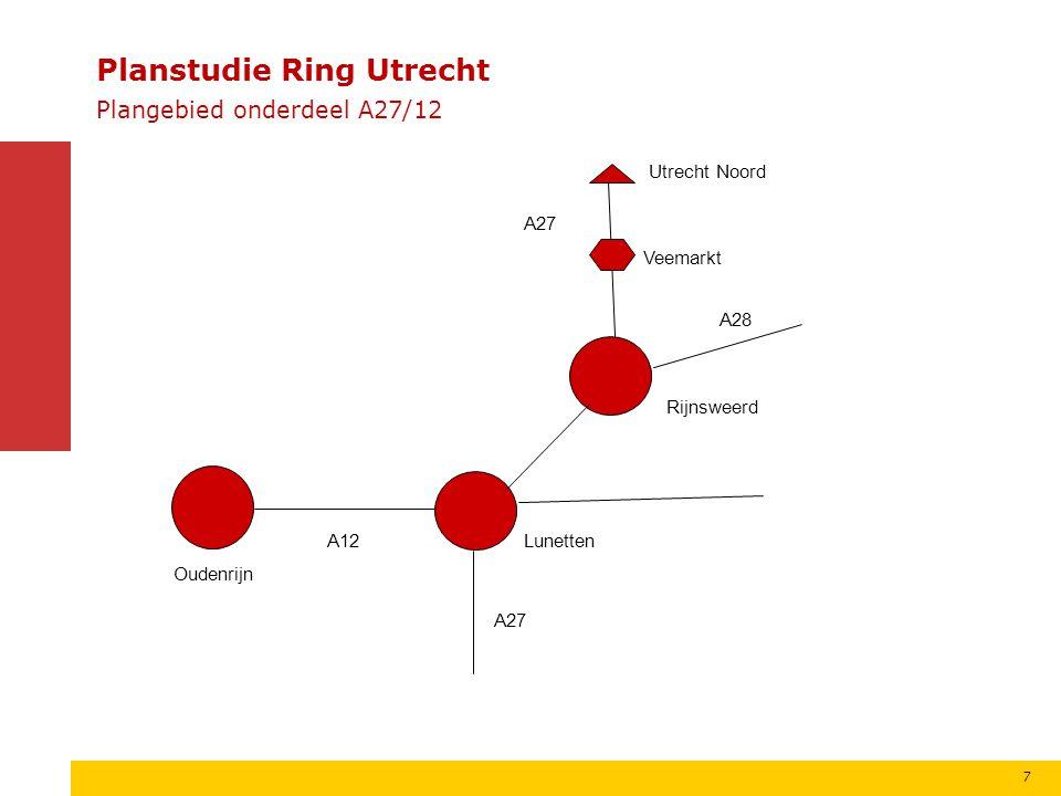 Basisprincipe splitsen Regulier verbreden Ontweven A12 A28 Bijpass 8 A27 Planstudie Ring Utrecht Splitsen