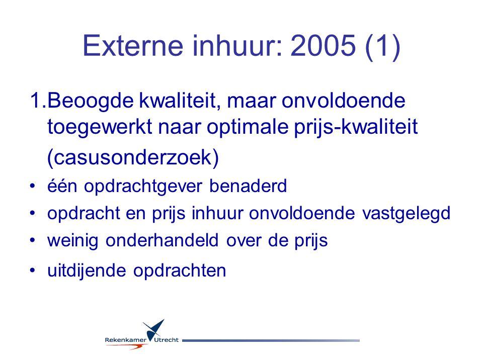 Externe inhuur: 2005 (2) 2.