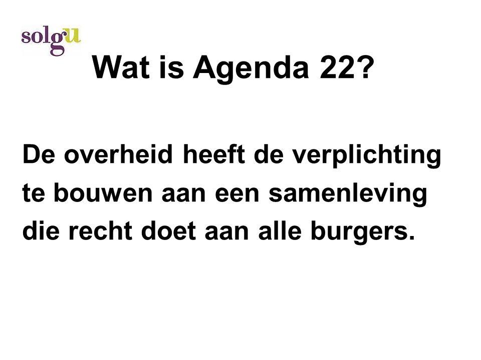 Wat is Agenda 22.