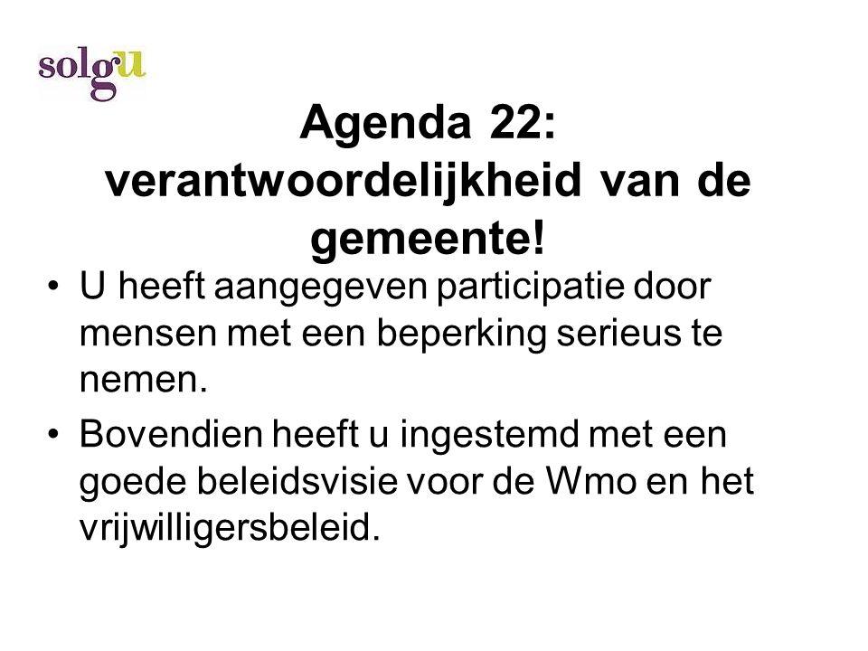 Agenda 22: verantwoordelijkheid van de gemeente.