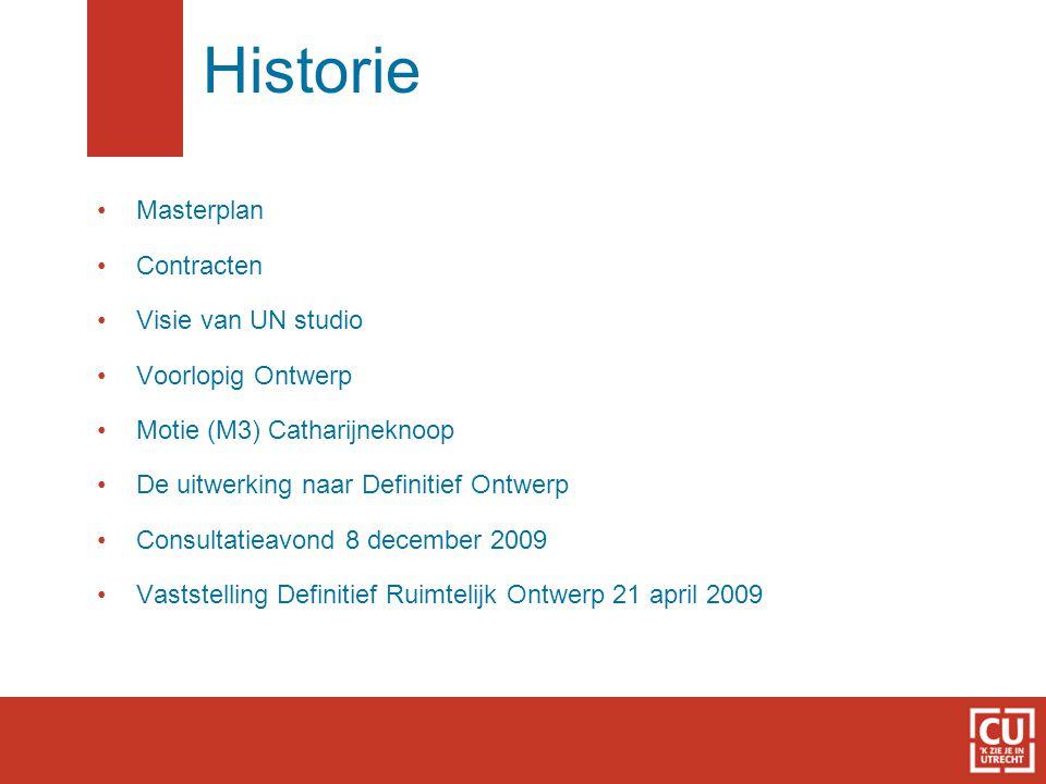 Masterplan Contracten Visie van UN studio Voorlopig Ontwerp Motie (M3) Catharijneknoop De uitwerking naar Definitief Ontwerp Consultatieavond 8 december 2009 Vaststelling Definitief Ruimtelijk Ontwerp 21 april 2009 Historie