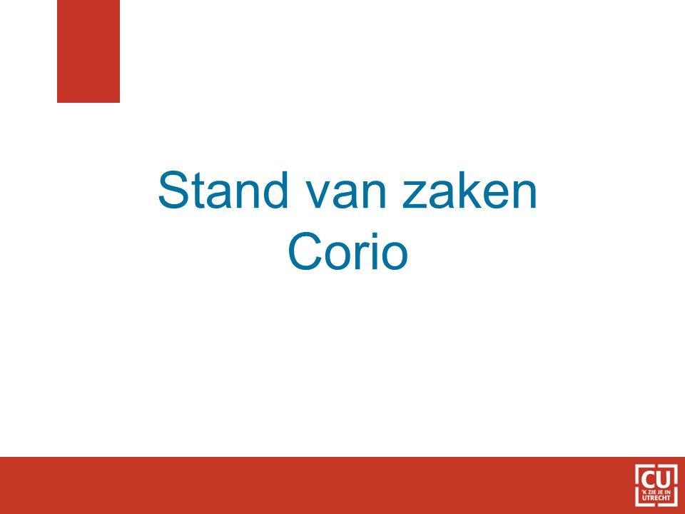 Stand van zaken Corio