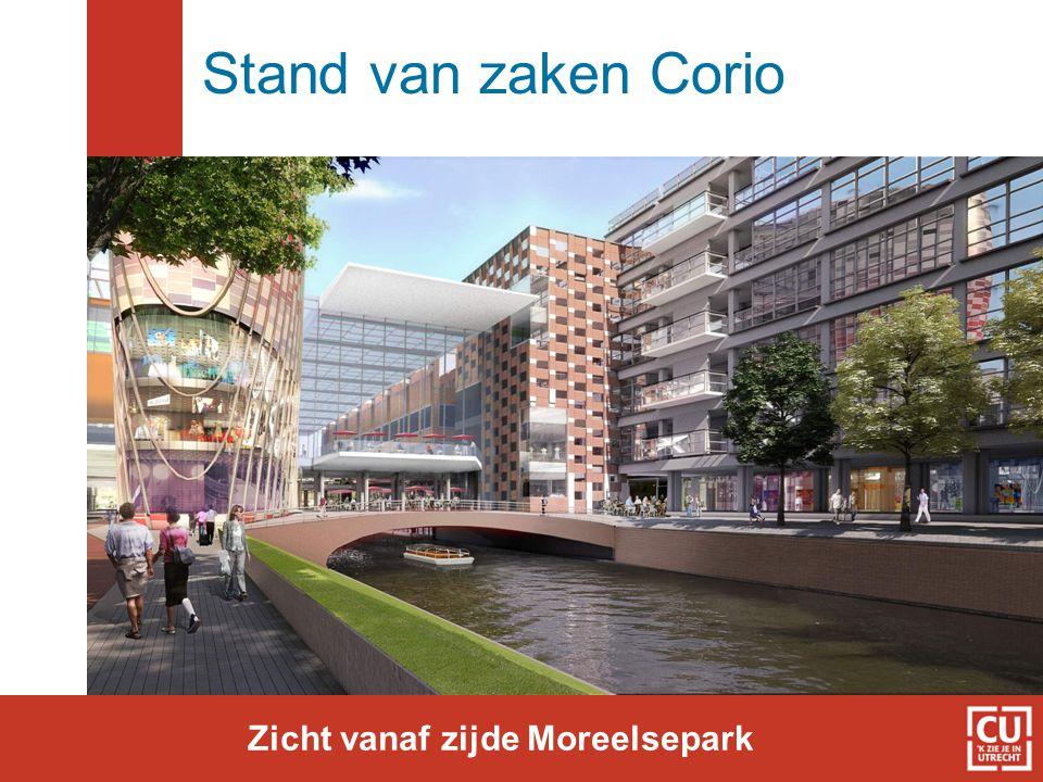 Stand van zaken Corio Zicht vanaf zijde Moreelsepark