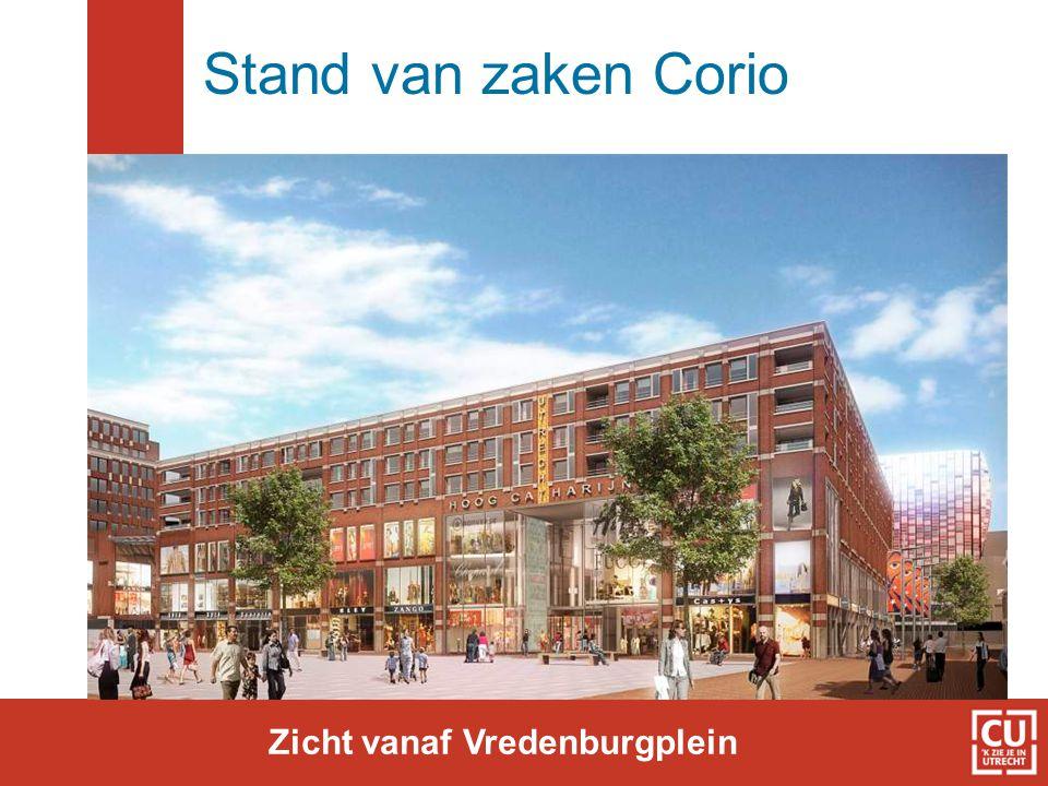 Stand van zaken Corio Zicht vanaf Vredenburgplein
