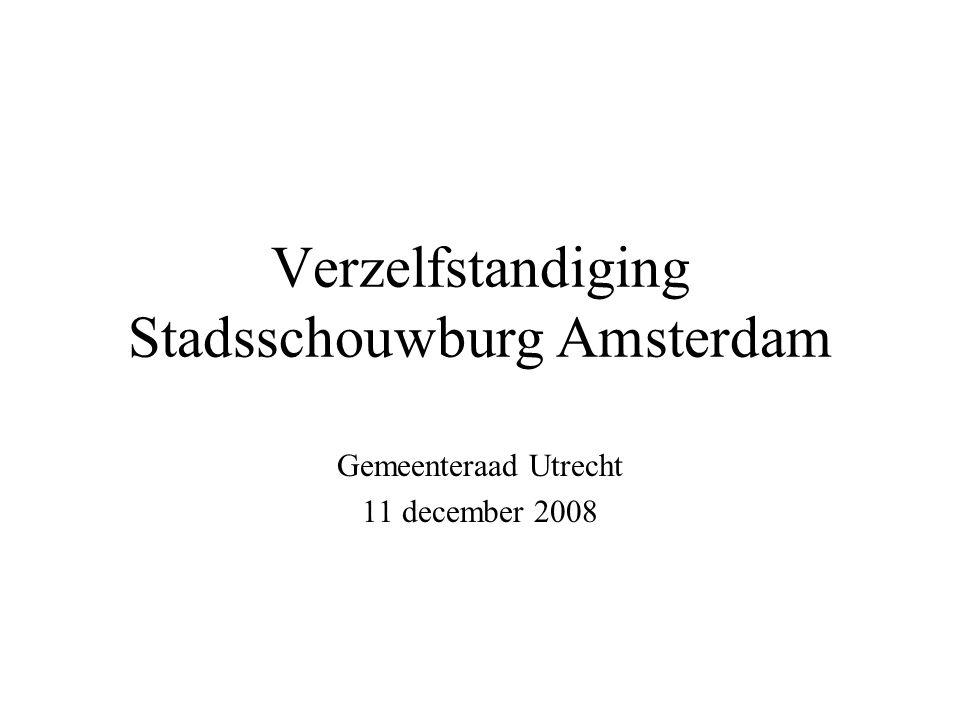 Verzelfstandiging Stadsschouwburg Amsterdam Gemeenteraad Utrecht 11 december 2008