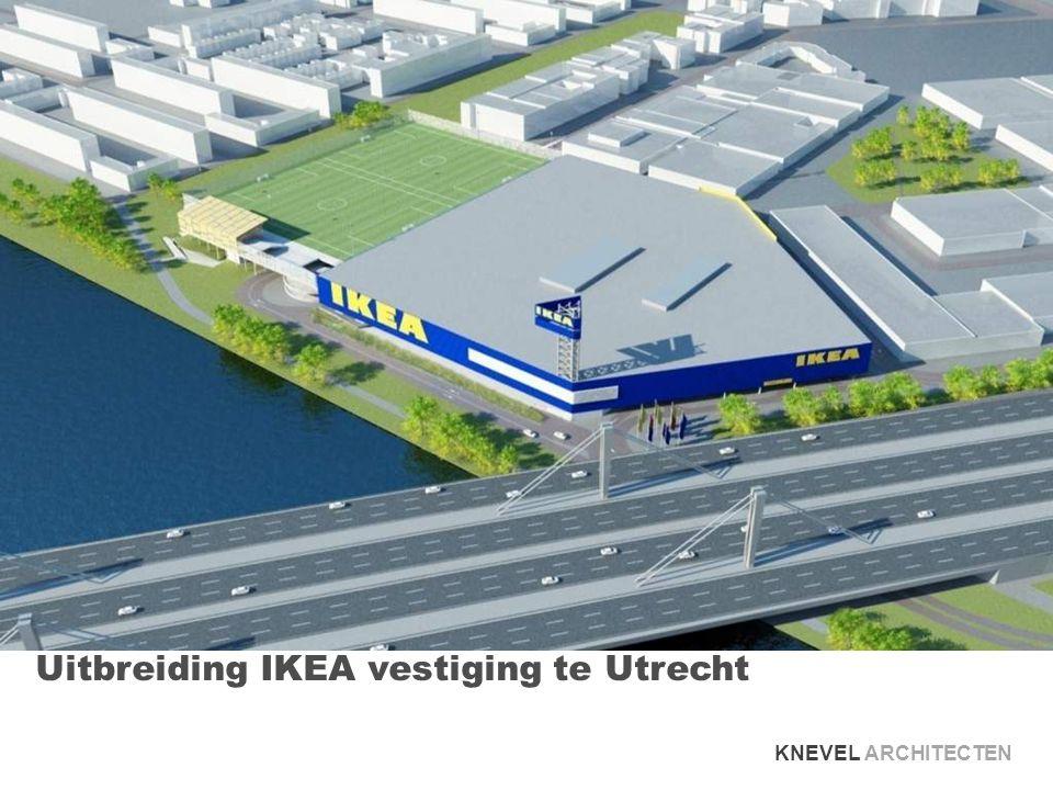 zicht vanaf Columbuslaan richting IKEA KNEVEL ARCHITECTEN LOCATIE | STEDENBOUW | ARCHITECTUUR
