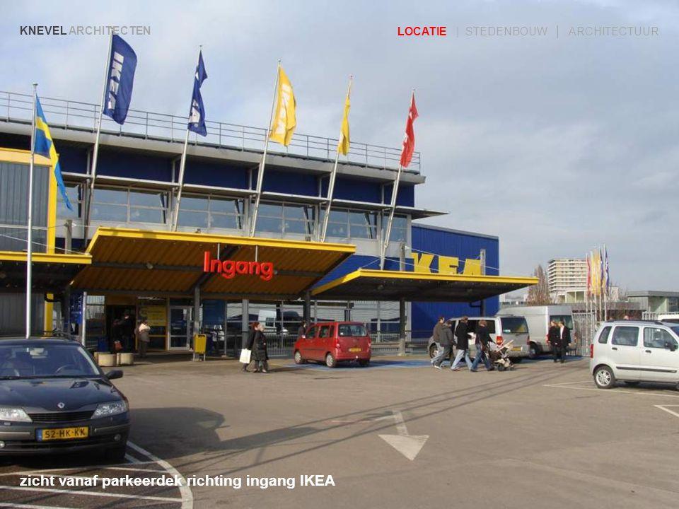zicht vanaf parkeerdek richting ingang IKEA KNEVEL ARCHITECTEN LOCATIE | STEDENBOUW | ARCHITECTUUR