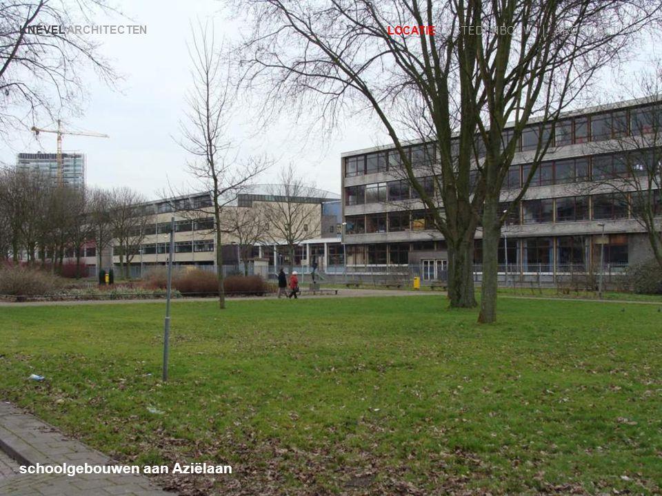 schoolgebouwen aan Aziëlaan KNEVEL ARCHITECTEN LOCATIE | STEDENBOUW | ARCHITECTUUR